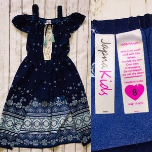 Japna Kids Navy Long High/Low short romper💙 Sz: 8